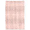 Dash and Albert Rugs Checks Pink/White Area Rug