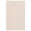 Dash and Albert Rugs Checks Beige Area Rug