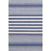Dash and Albert Rugs Rugby Stripe Hand Woven Blue Indoor/Outdoor Area Rug