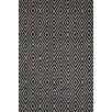 Dash and Albert Rugs Diamond Hand Woven Black Indoor/Outdoor Area Rug