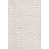 Dash and Albert Rugs Diamond Hand-Woven Gray/White Indoor/Outdoor Area Rug