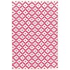 Dash and Albert Rugs Samode Hand-Woven Pink/White Indoor/Outdoor Area Rug