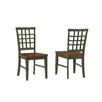 Imagio Home by Intercon Arlington Lattice Back Chair (Set of 2)