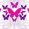 Kreme LLC California 16' x 23.5'' Butterflies Wallpaper