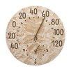 """Whitehall Products Fossil 14.5"""" Sumac Thermometer Clock"""