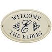 Whitehall Products Script Monogram Ceramic Address Plaque
