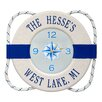 """Whitehall Products Life Ring Buoy 15.5"""" Indoor/Outdoor Wall Clock"""