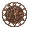 "Whitehall Products 14"" Flourish Indoor/Outdoor Wall Clock"