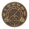"""Whitehall Products Sun and Wind 14"""" Indoor/Outdoor Thermometer Wall Clock"""