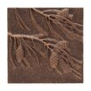 Pinecone Wall Decor - Color: Antique Copper - Whitehall Products Garden Statues and Outdoor Accents