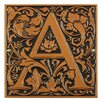 Cloister Monogram Wall Decor - Color: Antique Copper - Whitehall Products Garden Statues and Outdoor Accents