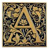 Cloister Monogram Wall Decor - Color: Black and Gold - Whitehall Products Garden Statues and Outdoor Accents