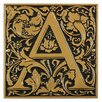 Cloister Monogram Wall Decor - Color: Bronze and Gold - Whitehall Products Garden Statues and Outdoor Accents