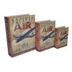Cheungs 3 Piece Book Box with Vintage Pacific Air Theme Set