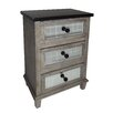Cheungs 3 Drawer Wood Cabinet