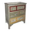 Cheungs Wood Cabinet with Mirrored Accents