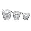 Cheungs 3 Piece Tapered Wire Basket Set