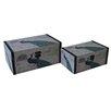 Cheungs 2 Piece Peacock Treasure Box Set