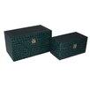 Cheungs 2 Piece Alligator Print Vinyl Box Set
