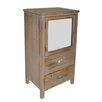 Cheungs 2 Drawer Wood Cabinet with Mixed Knobs and Bevelled Mirrored Door