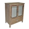 Cheungs 1 Drawer Wood cabinet with Double Bevelled Mirror Doors