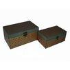 Cheungs 2 Piece Rectangle Clover Treasure Box Set