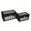 Cheungs 2 Piece Box with Chevron Pattern Overlay Set