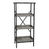"Cheungs Metal Storage 49"" Etagere Bookcase"