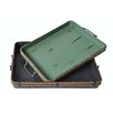 Cheungs 2 Piece Metal Tray with Rope Exterior Lining and Metal Handle Set