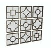 Cheungs Metal Design 9 Small Square Mirrors Wall Decor