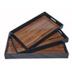Cheungs 3 Piece Wooden Tray Set