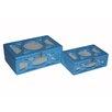 Cheungs 2 Piece Wooden Mirror Box Set