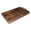 Cheungs Natural Wood Compartment Tray with Chrome Handle