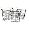 Cheungs 3 Piece Metal Wire Basket Set