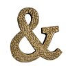 Cheungs Metal Ampersand Symbol with Hammered Accents Wall Décor