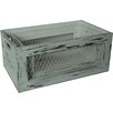 Cheungs 2 Piece Wood Crate Set with Chicken Wire Sides