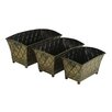 Berwick 3 Piece Rectangular Metal Pot Planter Set - Astoria Grand Planters