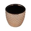 Ginnifer Electroplate Ceramic Pot Planter - Size: 5 inch High x 5.25 inch Wide x 5.25 inch Deep - Bungalow Rose Planters