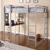 DHP Abode Full Loft Bed with Built-In Ladder, Desk & Bookshelves