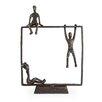 Danya B Playful Kids on Frame Bronze Sculpture