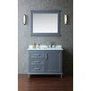 """Ariel Bath Nantucket 42"""" Single Bathroom Vanity Set with Mirror"""