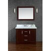 "Ariel Bath Ashbury 42"" Single Bathroom Vanity Set with Mirror"