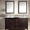 """Ariel Bath Hanson 60"""" Double Bathroom Vanity Set with Mirror"""
