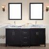 "Ariel Bath Hollandale 73"" Double Sink Vanity Set with Mirror"