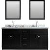 """Ariel Bath Hamlet 73"""" Double Bathroom Vanity Set with Mirror"""