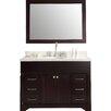 """Ariel Bath Stafford 49"""" Single Sink Vanity Set with Mirror"""