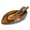Enrico Tortoise Shell Salad Bowl and Server