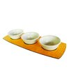 Enrico Honeycomb 4 Piece Serving Bowl Set