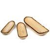 Enrico Mango 3 Piece Canoe Platter Set