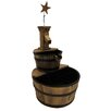 Wood 3 Stage Star Water Fountain - Leigh Country Indoor and Outdoor Fountains